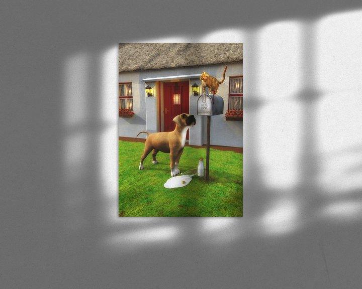 Beispiel: Katzen – Katze auf der Mailbox von Jan Keteleer