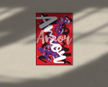 abstracte amor kunstwerk rood von Gerrit Neuteboom