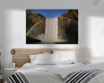 Waterval in Ijsland van Kevin Kardux