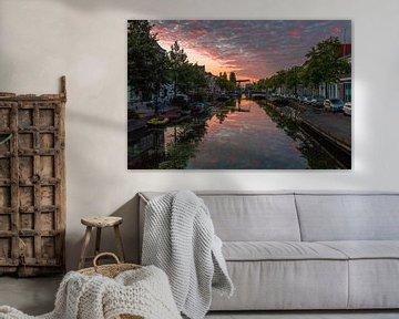 Zonsopgang boven Leiden van Richard Steenvoorden