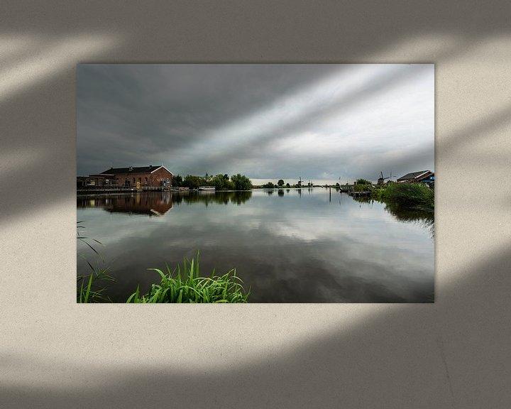 Sfeerimpressie: Kinderdijk water reflecties. van Brian Morgan