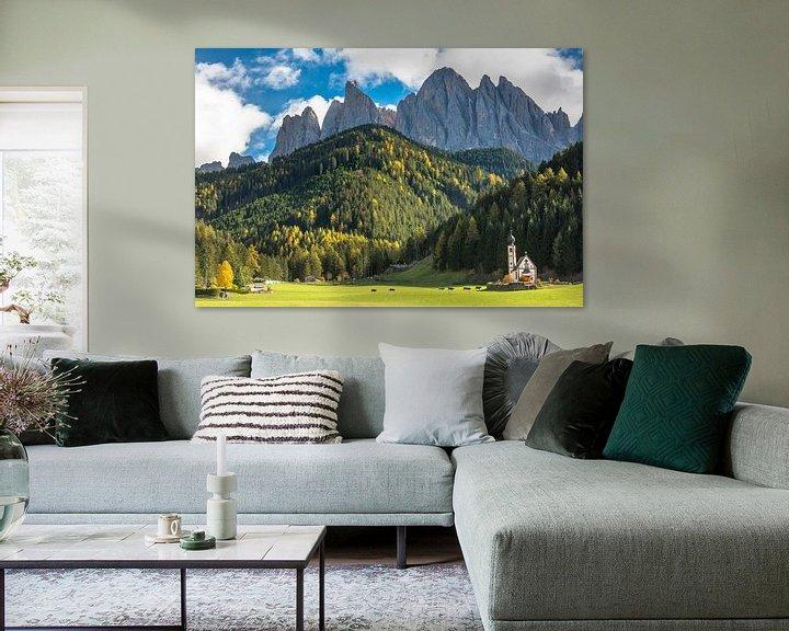 Beispiel: Kirche Dolomiten von Rob IJsselstein