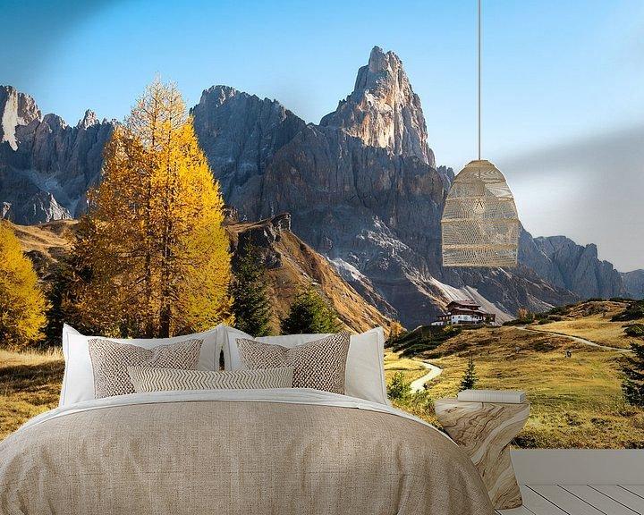 Beispiel fototapete: Herbstfarben in der Italienische Dolomiten von Rob IJsselstein