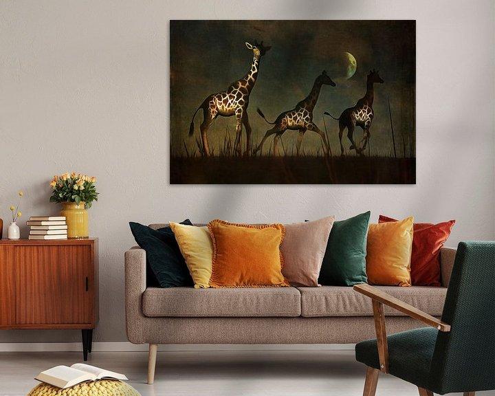 Beispiel: Tierreich  – Giraffen fliehen von Jan Keteleer