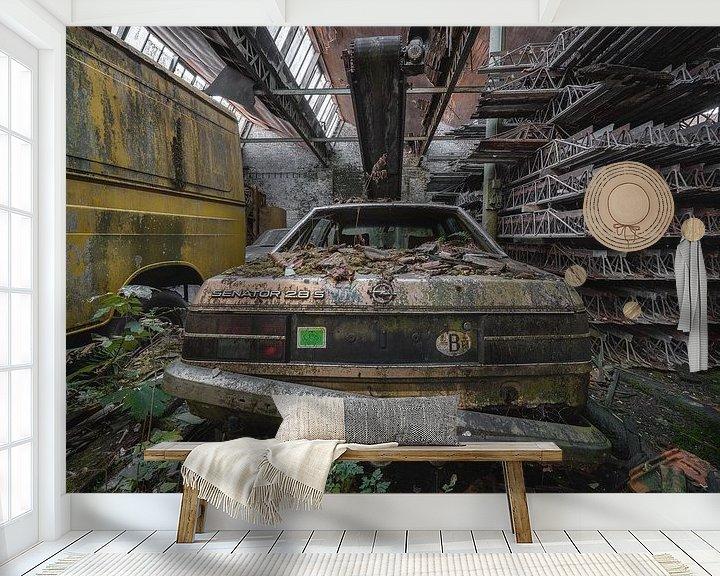 Beispiel fototapete: Ein altes Opel-Auto in Belgien von Steven Dijkshoorn