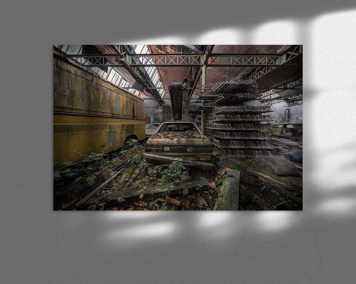 Sfeerimpressie: Een oude achtergelaten Opel van Steven Dijkshoorn