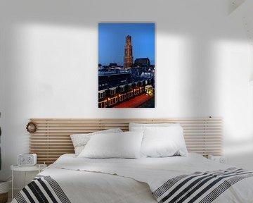 De binnenstad van Utrecht met Domtoren en Domkerk von Donker Utrecht