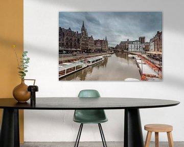 Graslei in Gent van Marcel Derweduwen