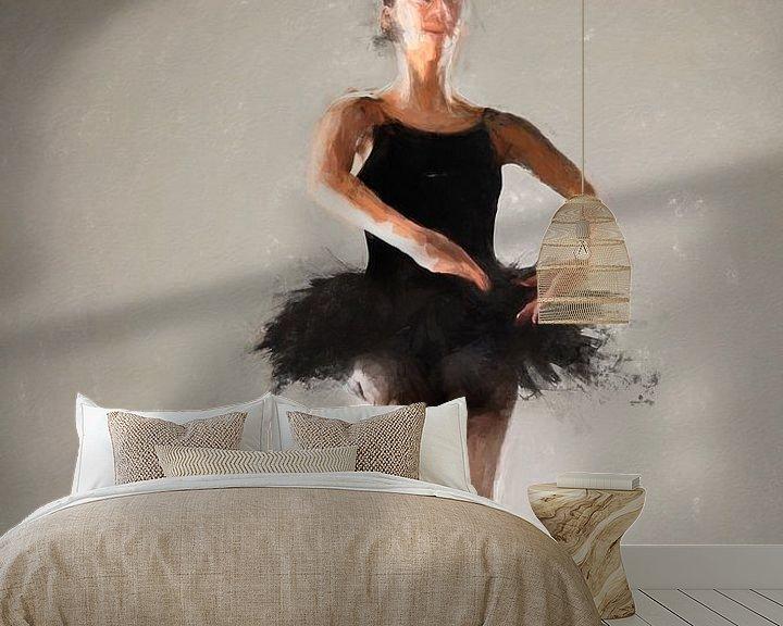 Sfeerimpressie behang: Ballerina II van Arjen Roos