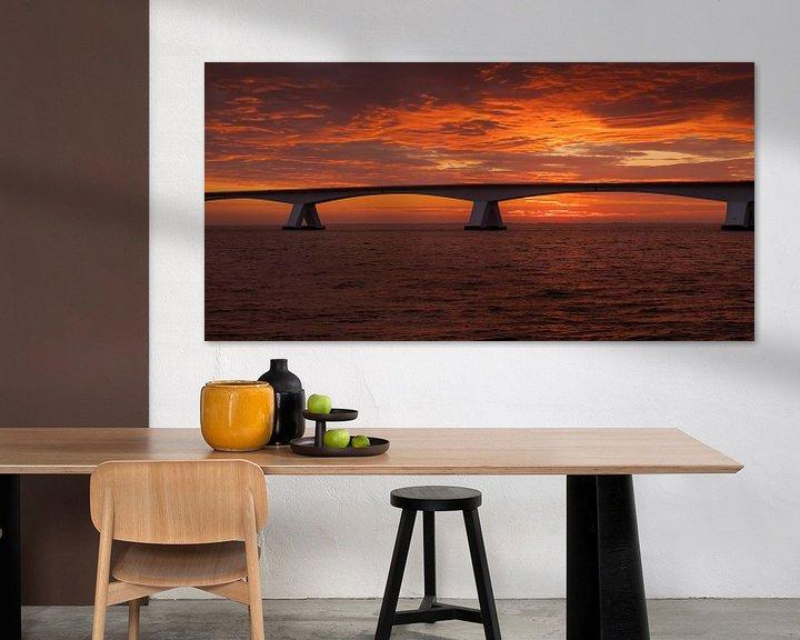 Sfeerimpressie: Zeelandbrug bij zonsopkomst van Jan Jongejan