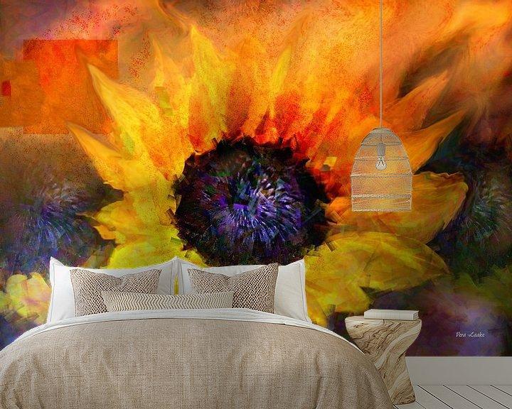 Sfeerimpressie behang: Sunflower in Art van Vera Laake