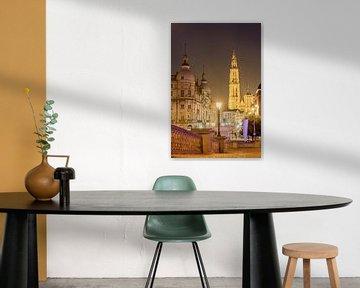 Antwerpen kathedraal in de avond von Dennis van de Water
