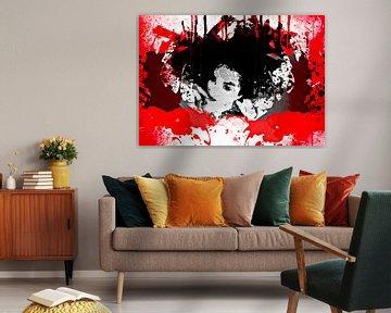 Black lady in red von PictureWork - Digital artist