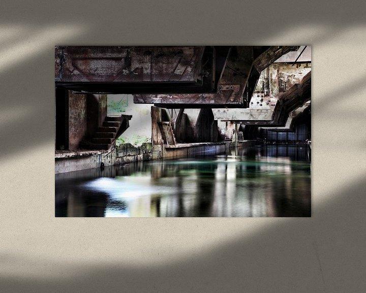 Sfeerimpressie: Koelbak oude staalfabriek van Nart Wielaard