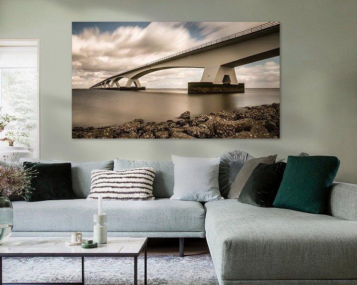 Sfeerimpressie: Zeelandbrug van Jan Jongejan