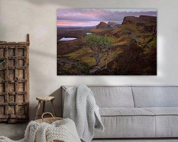 Quiraing bergen in een Skye landschap bij zonsopkomst