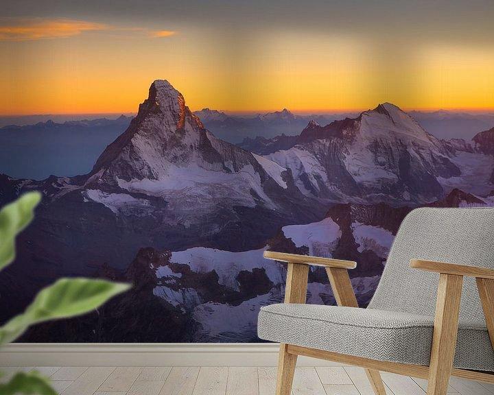 Beispiel fototapete: Matterhorn bei Sonnenuntergang von Menno Boermans