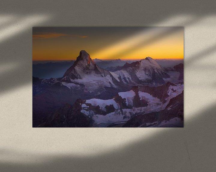 Beispiel: Matterhorn bei Sonnenuntergang von Menno Boermans