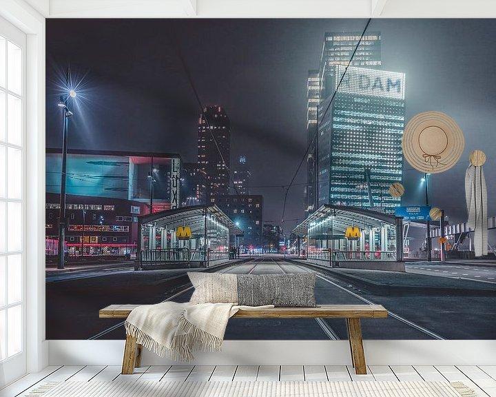 Sfeerimpressie behang: Rotterdam subway van Midi010 Fotografie
