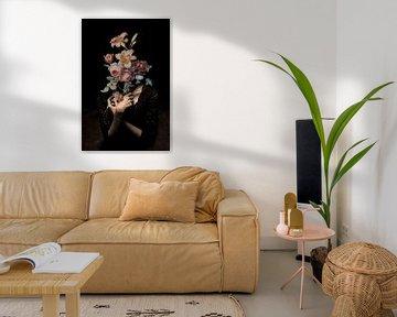 Selbstporträt mit Blumen (Inkognito) von toon joosen