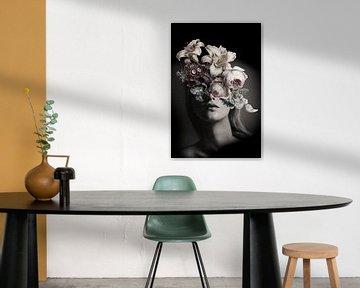 Selbstbildnis mit Blumen 14 (inkognito) von toon joosen
