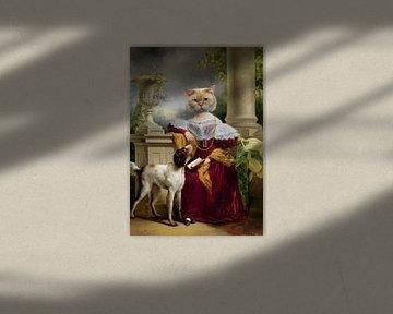Porträt von Alida (Collage) von Marja van den Hurk