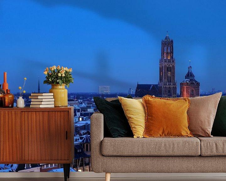 Beispiel fototapete: Die Stadt Utrecht im Winter von Donker Utrecht