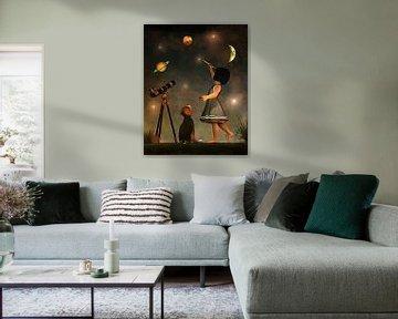 Kinderen Kunst:  Het opleiden in de astronomie
