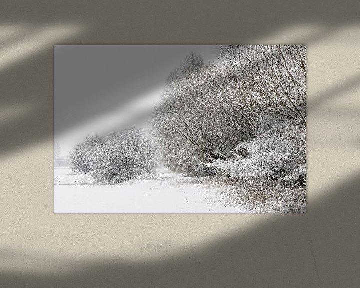 Sfeerimpressie: Onset of winter, snow covered bushes and trees van wunderbare Erde