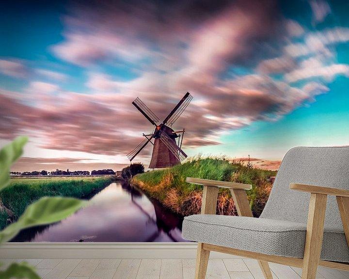 Sfeerimpressie behang: oude doornse molen van Rubin Versigny