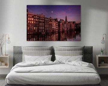 Amsterdamer Kanäle bei Mondschein. von Marleen Kuijpers