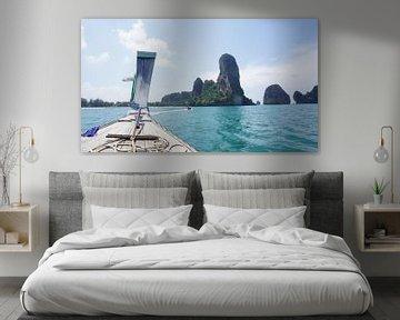 'Escape from Railay', Andaman zee, Thailand van LÉON ROEVEN