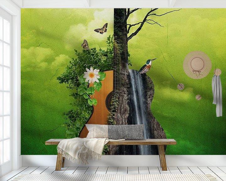 Sfeerimpressie behang: Acoustic Guitar van Ursula Di Chito