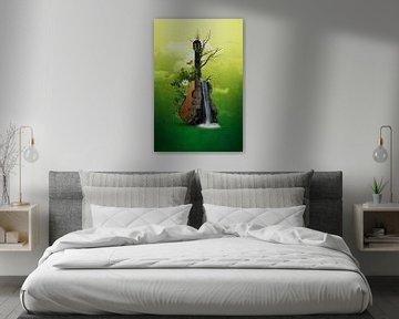 Akustik-Gitarre - Abstrakt sur Ursula Di Chito