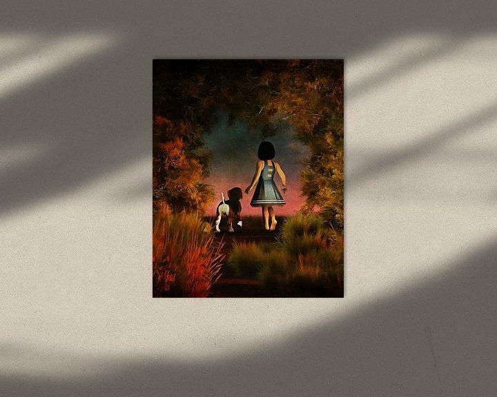 Impression: Enfants Art: Balade romantique dans les bois sur Jan Keteleer