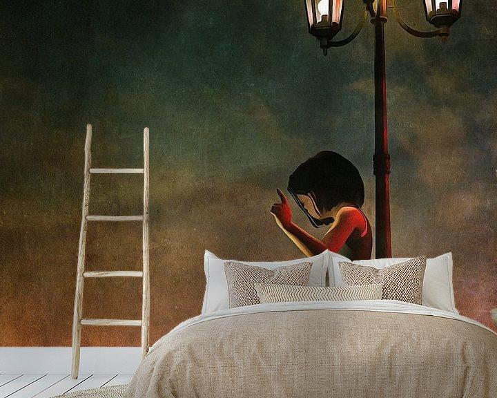 Sfeerimpressie behang: Kinderen Kunst: Stoute  hond van Jan Keteleer