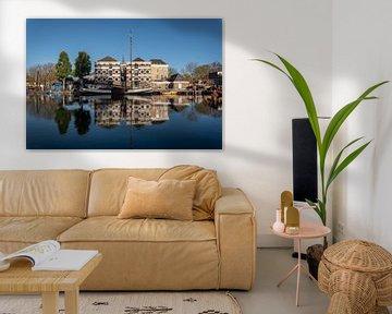 Musée du port de Gouda avec miroir dans le Turfsingel sur Remco-Daniël Gielen Photography