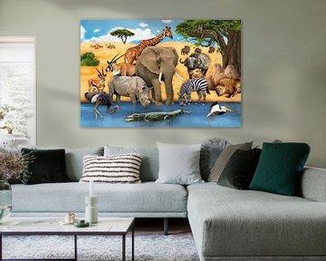 Dieren in Afrika van Marion Krätschmer