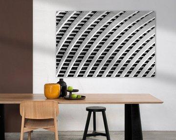 Luik-Guillemins abstract zwart-wit von Dennis van de Water