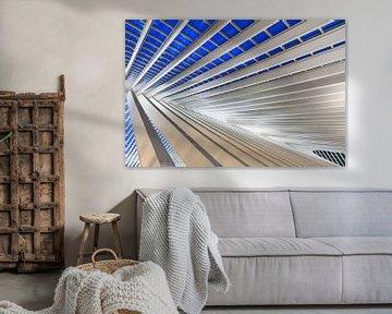 Blauw staal Liege-Guillemins von Dennis van de Water