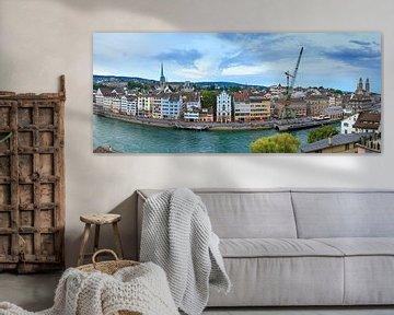 Zurich skyline panorama van Dennis van de Water