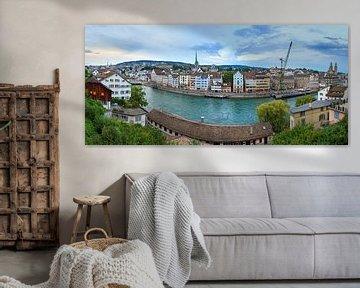 Zurich stadsgezicht panorama van Dennis van de Water