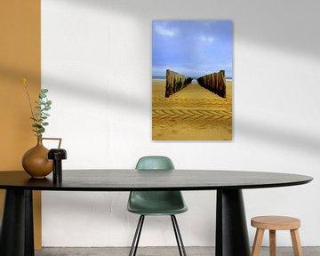 golfbreker Zeeuwse kust van Bram Claassen