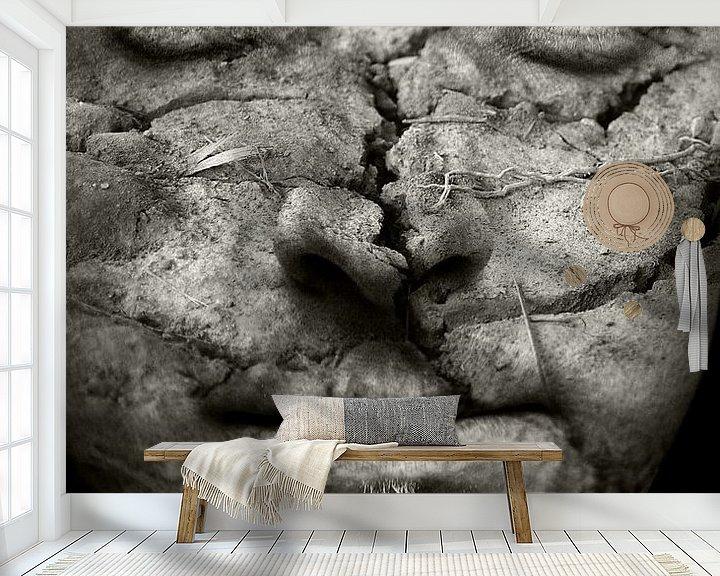 Sfeerimpressie behang: Earthman van Jacqueline Lemmens
