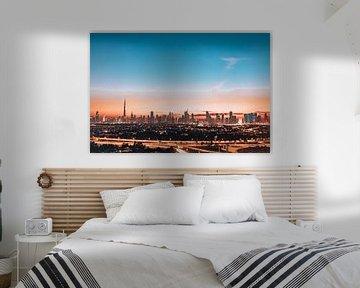 Dubai skyline sur Olivier Peeters