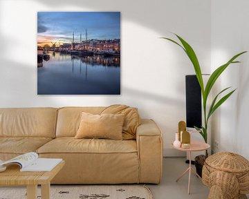 Sonnenuntergang in Leiden von Patrick Herzberg