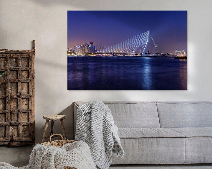 Sfeerimpressie: De Erasmusbrug straalt | Rotterdam van Menno Verheij / #roffalove