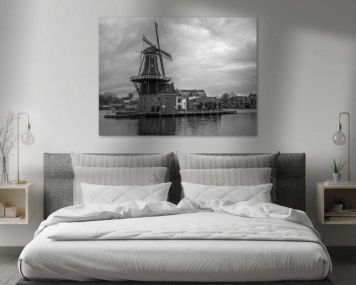 Beispiel: Mühle in Haarlem von Martijn Tilroe