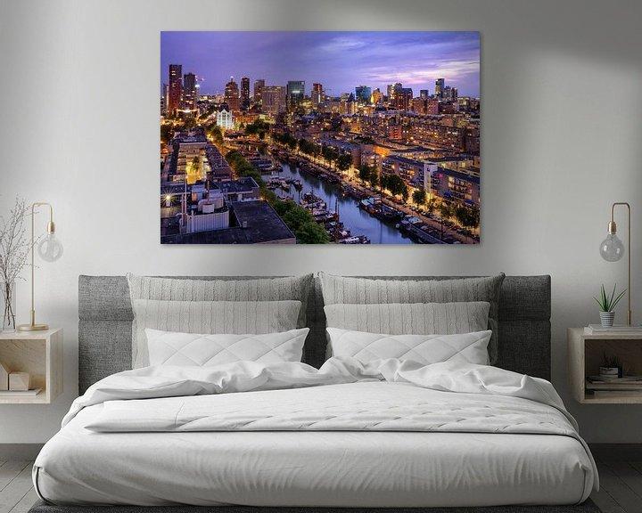 Sfeerimpressie: Skyline bij avondlicht | Rotterdam van Menno Verheij / #roffalove