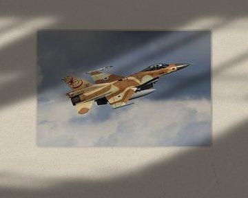 Israelische Luchtmacht F-16 Fighting Falcon van Dirk Jan de Ridder